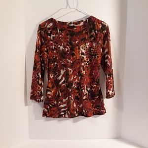 AGB Tops - AGB women's blouse 3/4 sleeve size S